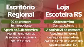 Horários Especiais do Escritório e da Loja durante o feriado