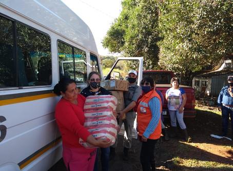 Grupo Escoteiro Ijui/300 realiza entrega donativos para famílias afetadas pelas chuvas.