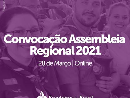 Convocação Assembleia Regional 2021.