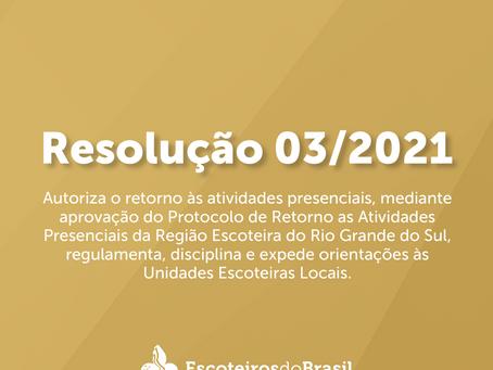 Resolução Regional 03/2021