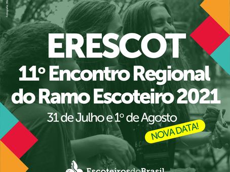 Nova data para o ERESCOT 2021