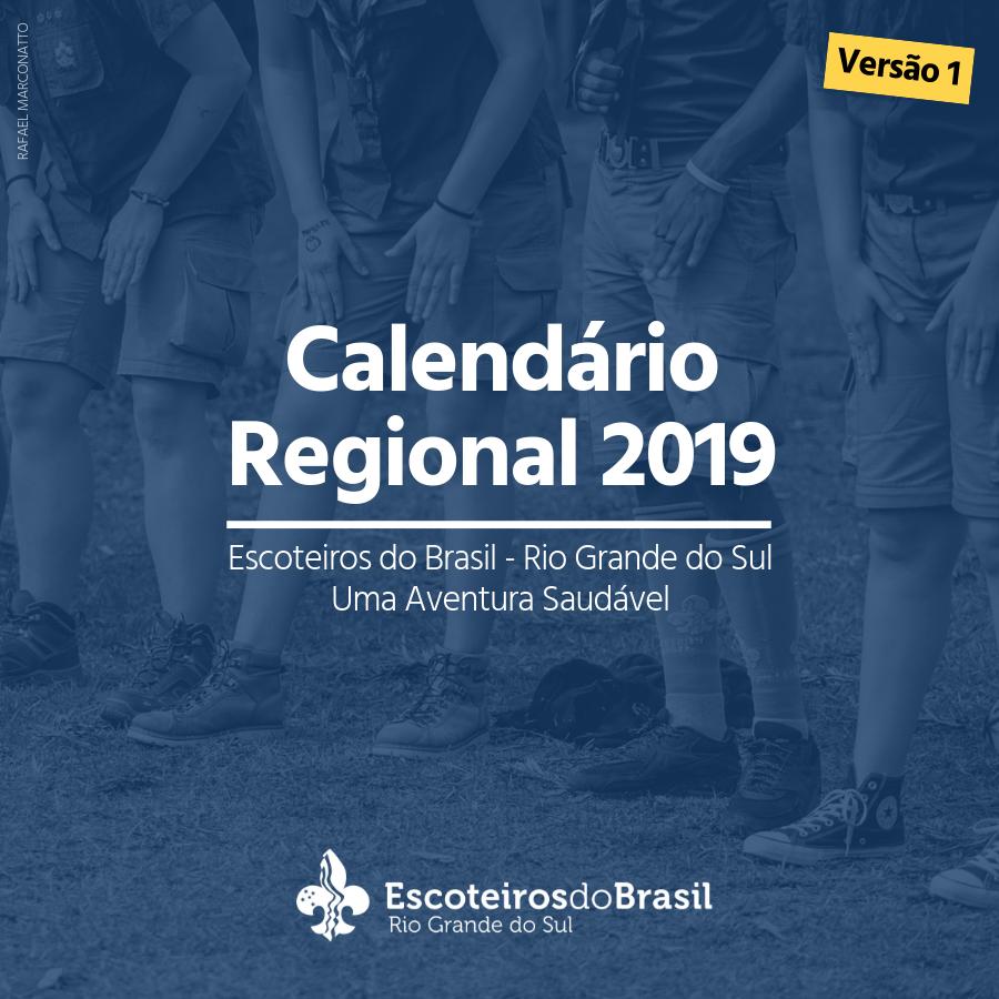 Calendario 2019 Rio Grande Do Sul.Calendario Regional 2019 Uma Aventura Saudavel