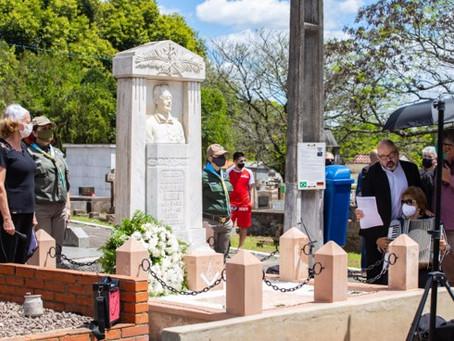 Homenagem ao Patriarca da Imigração Alemã no Brasil e de São Leopoldo;