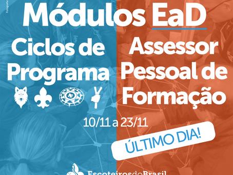 Último dia para inscrição nos Módulos de APF e Ciclo de Programa!