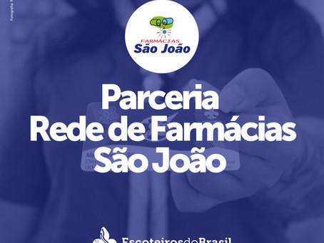 Região Escoteira do Rio Grande do Sul tem parceiria com a Rede de Farmácias São João.