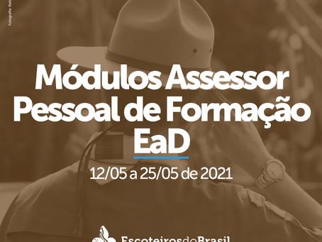 Módulo Assessor Pessoal de Formação EaD - 12 a 25/05
