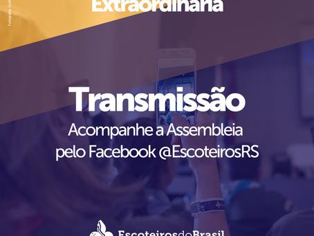 Transmissão da Assembleia Regional Extraordinária