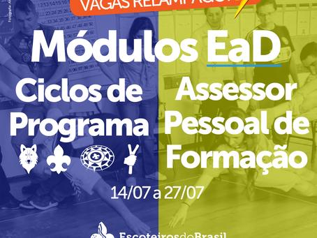 Módulos EaD de Ciclo de Programa e de Assessor Pessoal de Formação - Julho 2021 - Vagas Relâmpago