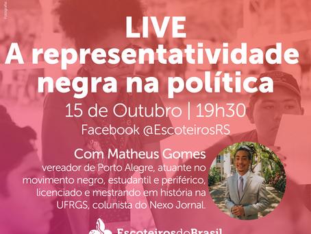 Live: A representatividade negra na política