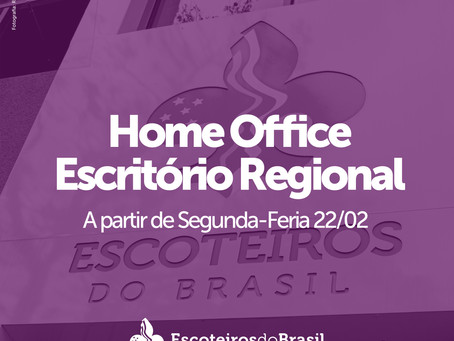 Informamos que o Escritório Regional do Rio Grande do Sul entrará novamente em Home Office a part