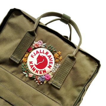 Embroidery Kanken Backpack Green