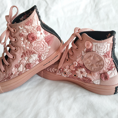 Hight Top Full Embroidery Converse