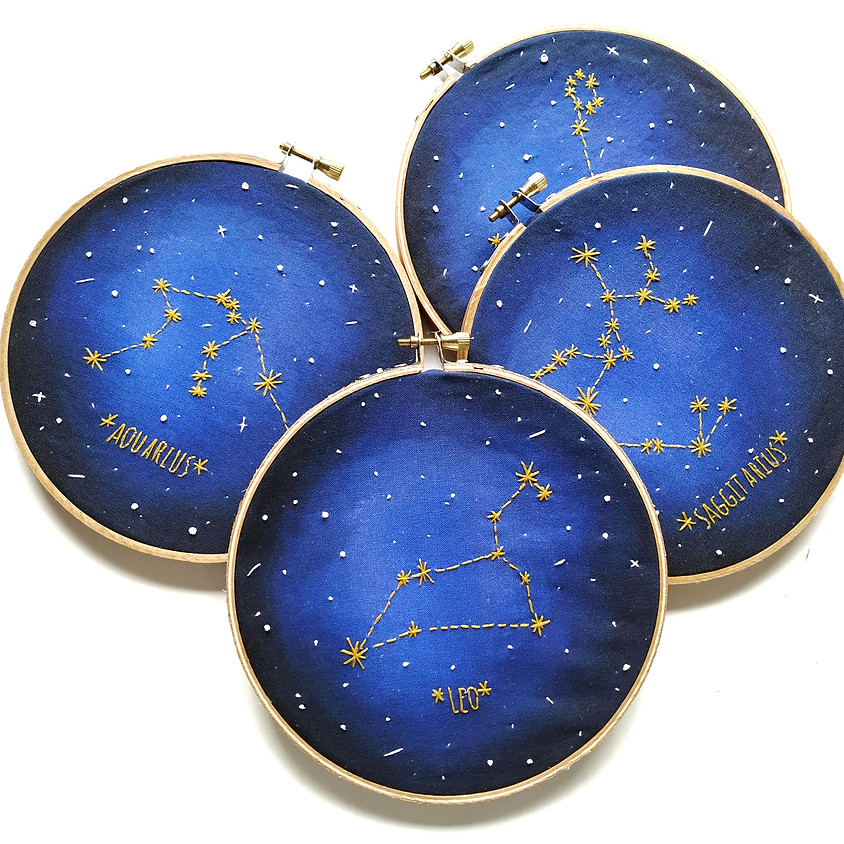 Introduction to Embroidery Zodiac Constellation