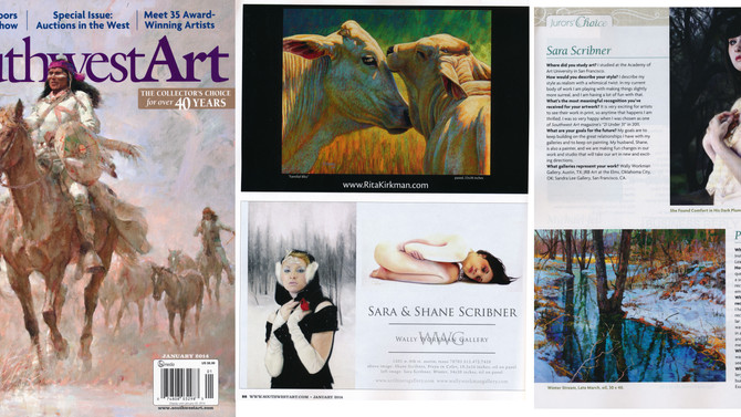 Southwest Art Magazine's January Issue is in and I recognize some work!