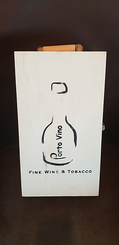 Exclusive wooden 2 bottle gift box
