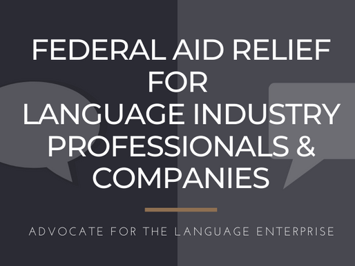 S.3548 CARES Act: Urge Congress to Include Language Professionals & Companies in Federal Aid Relief