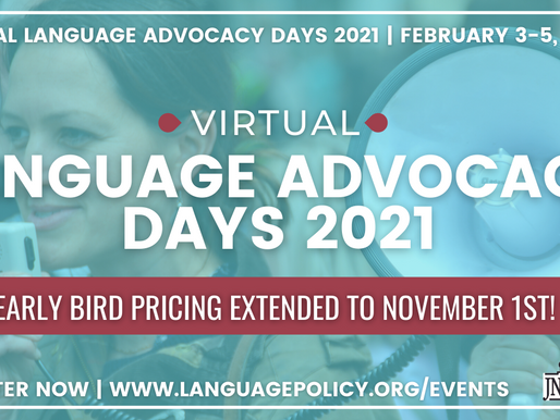 Discounted Registration for Virtual World Language Advocacy Days Event