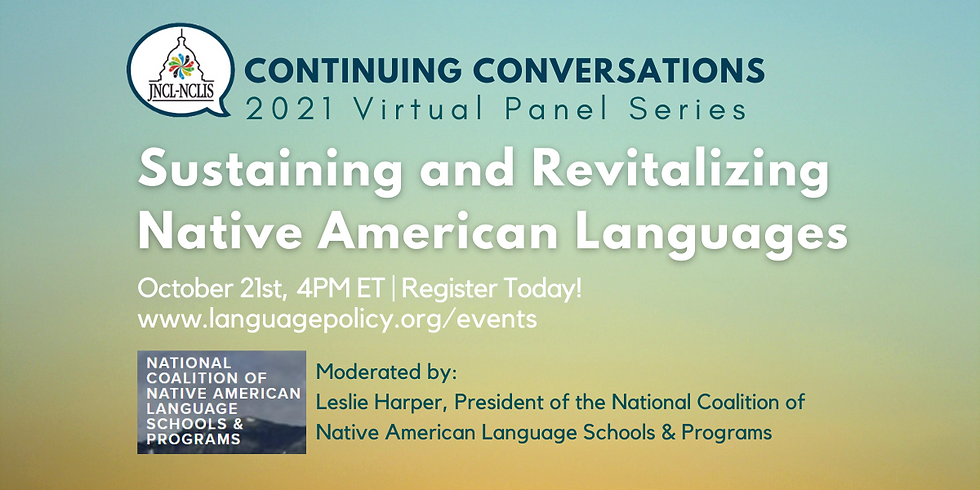 Sustaining and Revitalizing Native American Languages