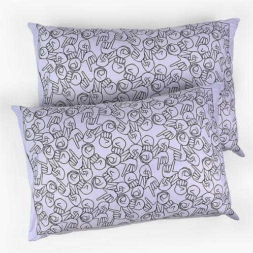 "Lilac ""LOVE"" Pillowcase Set"