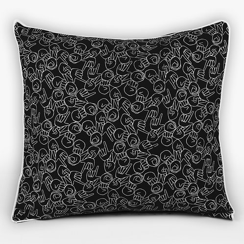 "Charcoal ""LOVE"" Cushion"
