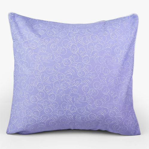"Lilac ""LOVE"" Cushion"