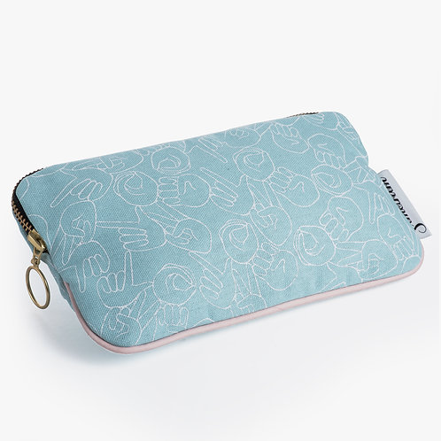 "Mint ""LOVE"" Pouch"
