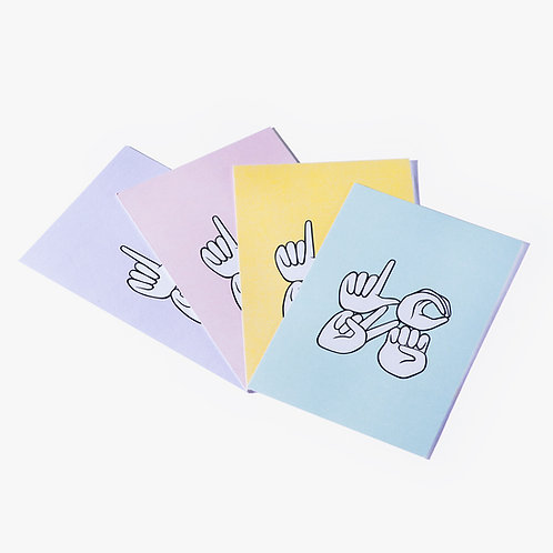 Big LOVE Postcards - pack of 8