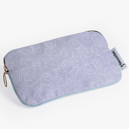 "Lilac ""LOVE"" Pouch"