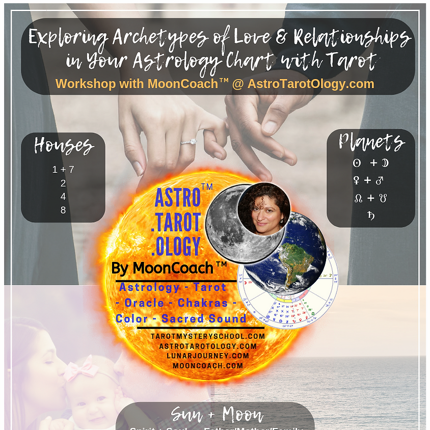 Astro.Tarot.Ology™ with MoonCoach™: Exploring Archetypes of Love & Relationship in Astrology Online Workshop (1)