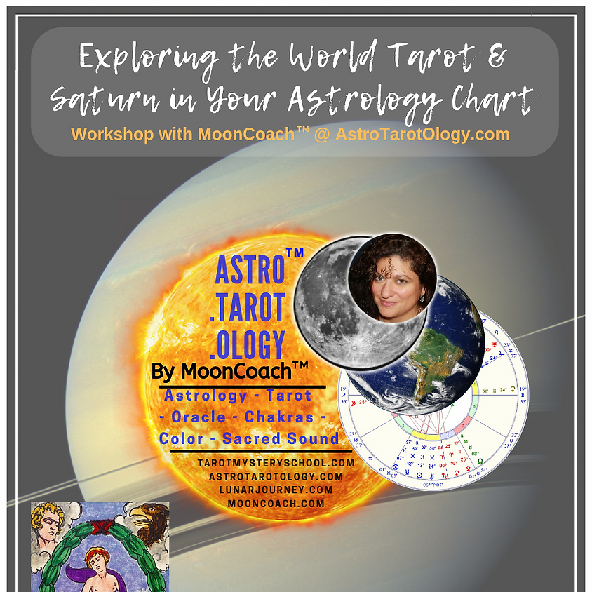 Astro.Tarot.Ology™ with MoonCoach™: Exploring the World & Saturn in Astrology Online Workshop