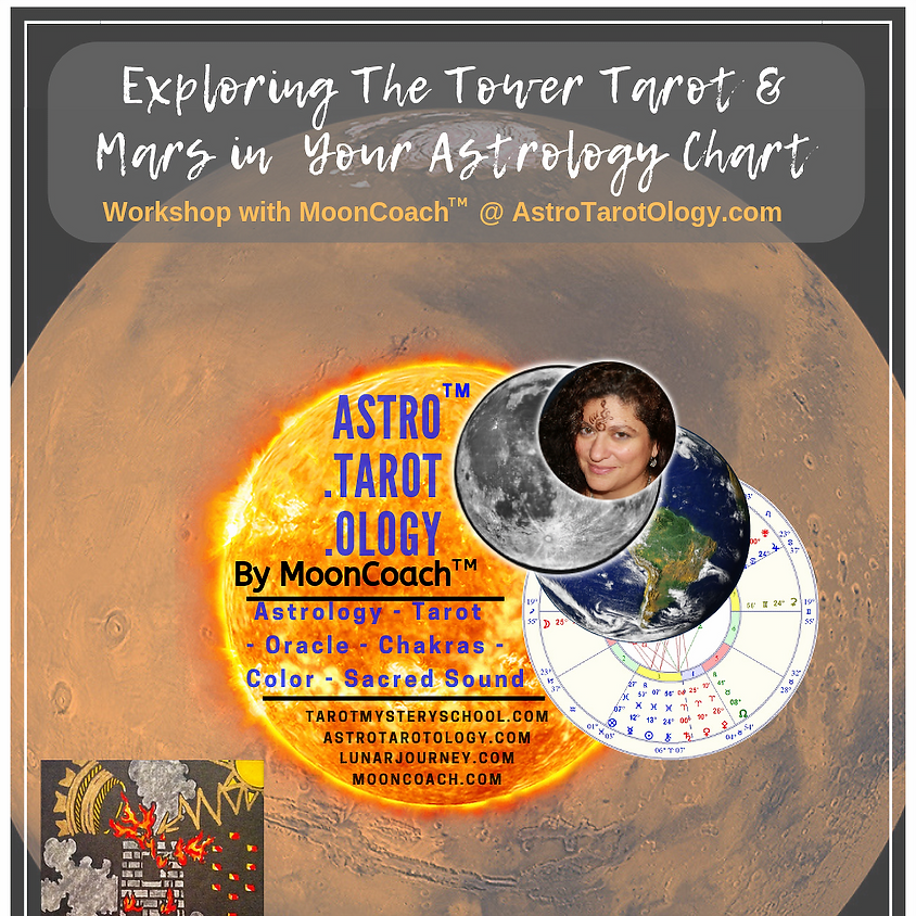 Astro.Tarot.Ology™ with MoonCoach™: Exploring the Tower & Mars in Astrology Online Workshop