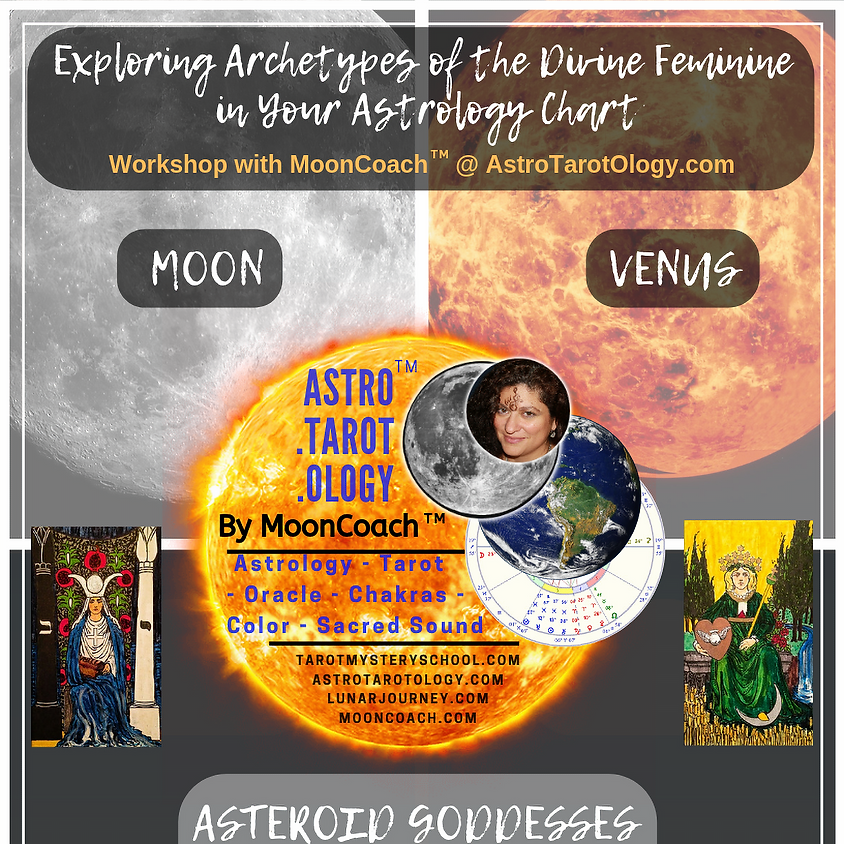 Astro.Tarot.Ology with MoonCoach™: Exploring the Goddesses & Divine Feminine in Astrology