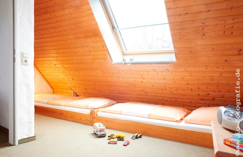 Dreibettzimmer im Dachgeschoss