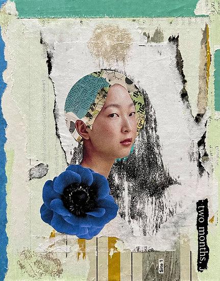 anémona - handmade collage