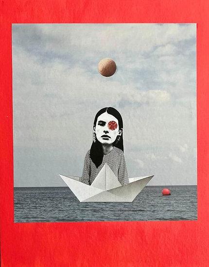 transatlantic - handmade collage