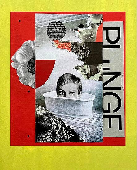 plunge - handmade collage
