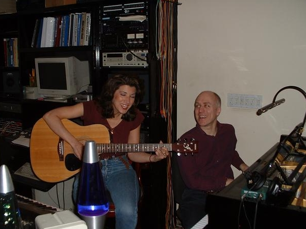 Segal and Asero in the studio