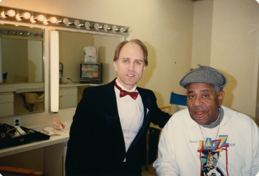 with Dizzy Gillespie