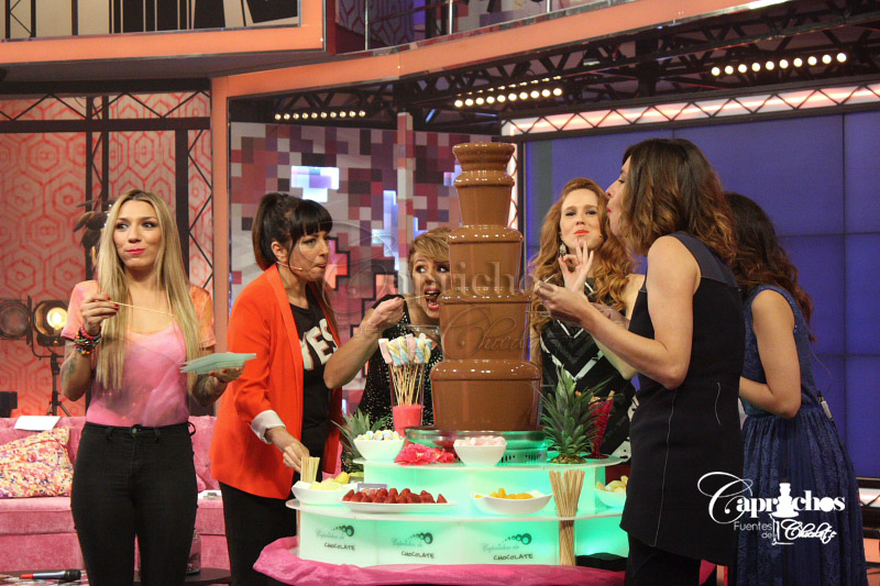 Fuente de chocolate en Hable con ellas