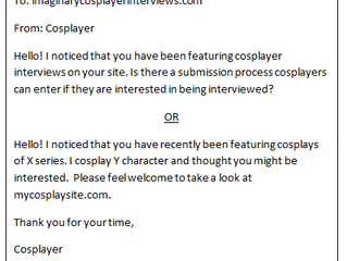 How to be Interviewed as a Cosplayer