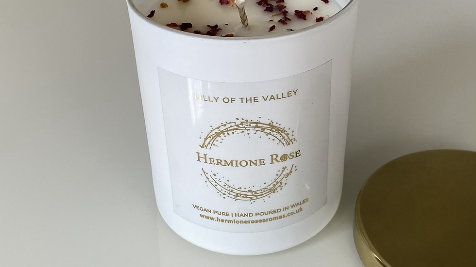 White 30cl Candle Lilly of the Valley
