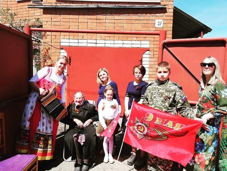 Юные таланты поздравили участников Великой Отечественной войны Новосоколовогорского поселка
