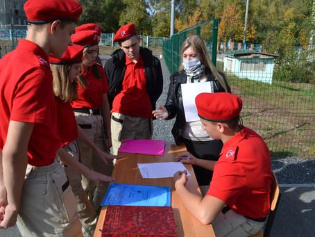 Юнармейцы СОШ №84 соревновались в интеллектуально-спортивной игре