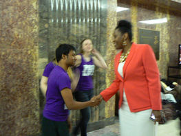 Jackson greets Pro-Lifers Pro Life Day at the Capitol