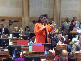 Jackson debating on House Floor Louisiana State Capitol