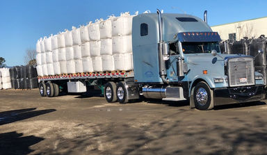 Picture of Truck at NorCal Perlite Wholesale Manufacturing and Distribution Plant in the San Francisco Northern California East Bay Area City of Richmond, CA
