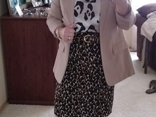 Styling a Cat print skirt for Summer:  Stylist Kathy
