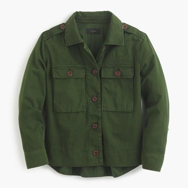 JCrew Garment Dyed Shirt Jacket