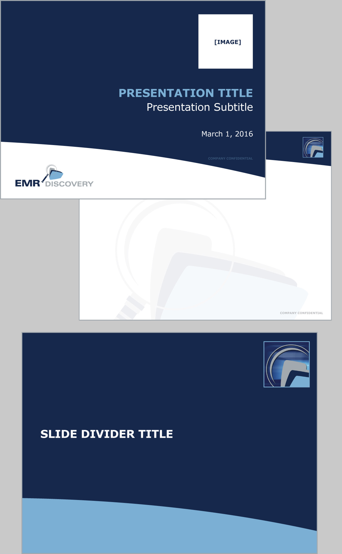 EMR Discovery Logo and Presentation