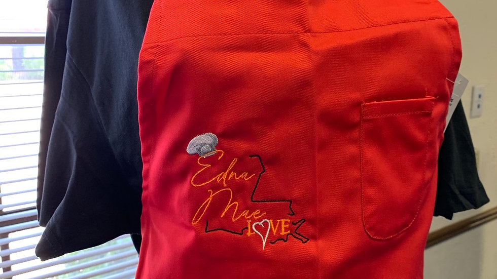 Official Edna Mae Love Apron RED